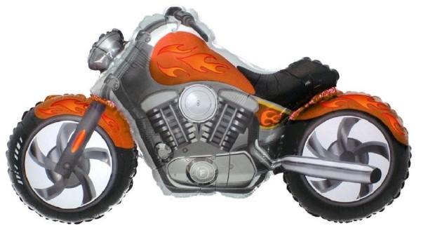 Motorrad Custom Bike Orange Folienballon - 115 x 57cm