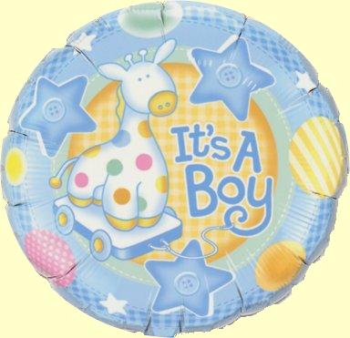 Baby Boy Soft Giraffe blau Folienballon - 45cm