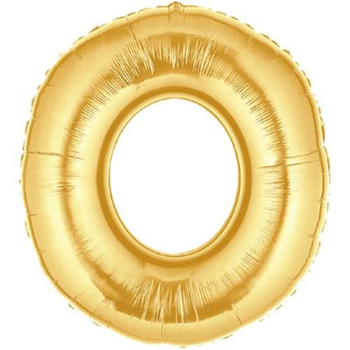 Große Folienballon Zahl 0 (gold)