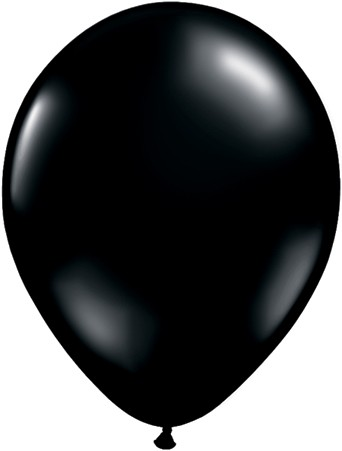 "Qualatex Fashion Onyx Black (Schwarz) 27,5cm 11"" Latex Luftballons"