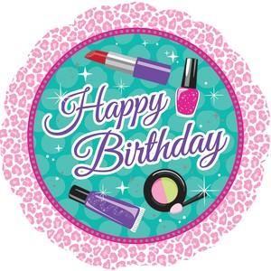 Wellness Sparkle Spa Happy Birthday Folienballon