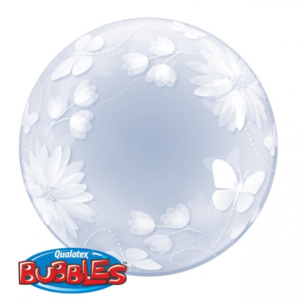 "Qualatex Deco Bubble Butterflies and Flowers 20"" 51cm Luftballon"
