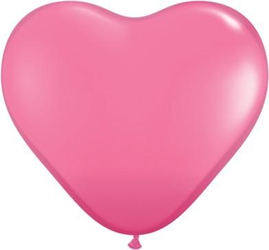 "Qualatex Herz Rose Rosa 15cm 6"" Latex Luftballons"