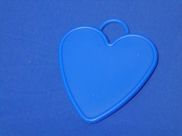 Luftballon Gewicht Herz-förmig groß in blau