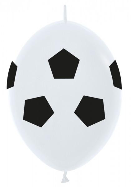 "Link o Loon Fußball (Soccerball) 30cm 12"" Latex Luftballons Sempertex"