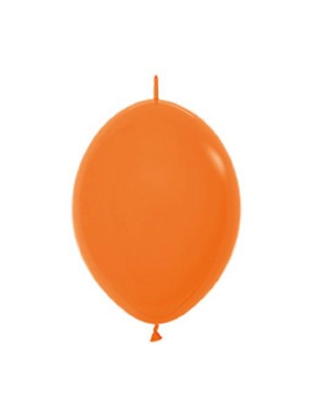 "Link o Loon 061 Fashion Orange 15cm 6"" Latex Luftballons Sempertex"