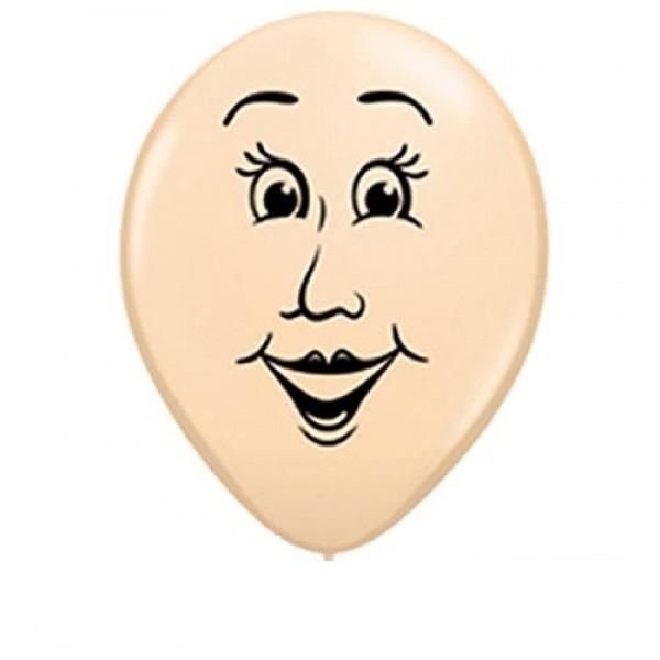 """Gesicht Women Frau Blush 12,5cm 5"""" Latex Luftballons Qualatex"""