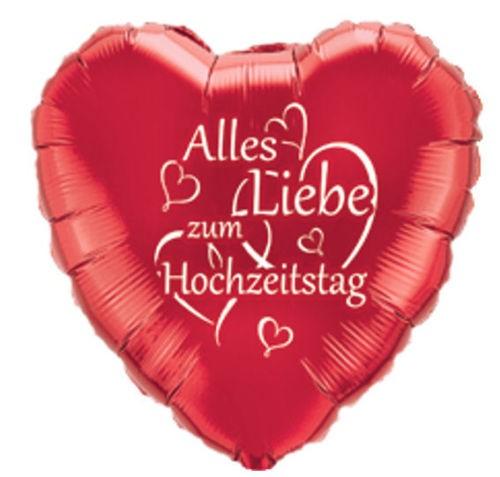 Alles Liebe zum Hochzeitstag - Herz Folienballon - 45cm