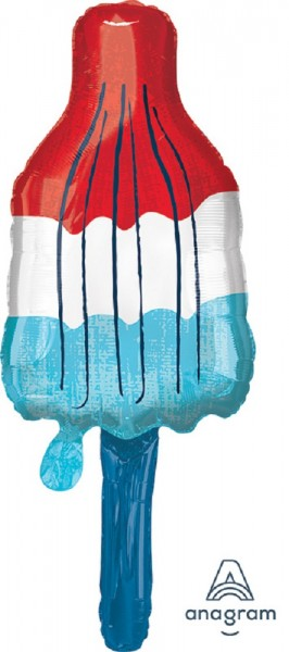 Eis am Stiel Red, White, Blue Popsicle Folienballon 101cm 40 ''