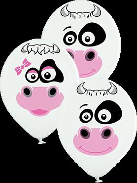 "Cows Kuh 30cm 12"" Latex Luftballons Belbal"