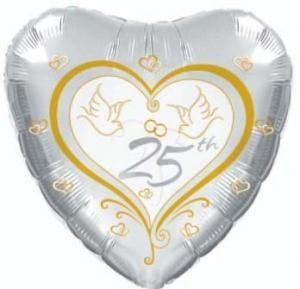 Silberhochzeit Folienballon - 45cm