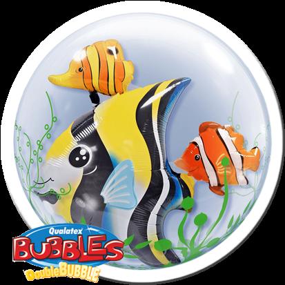 "Qualatex Double Bubble Fisch 24"" 61cm Luftballon"