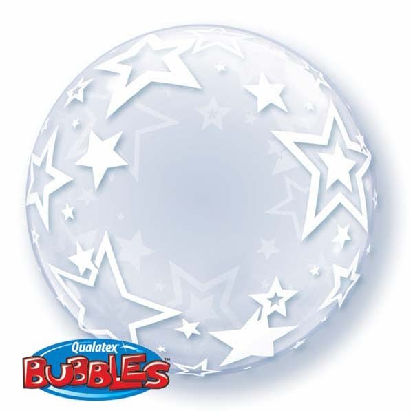 Qualatex Luftballons Deco Bubbles Stylish Stars Sterne - 61cm