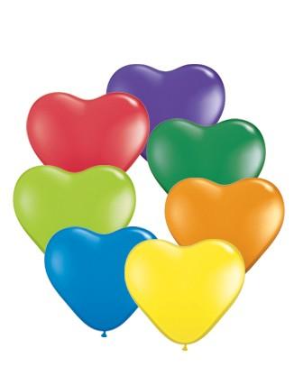 BallonHerz klein bunt gemischt (Carnival Assortment) Latexluftballons - 15cm