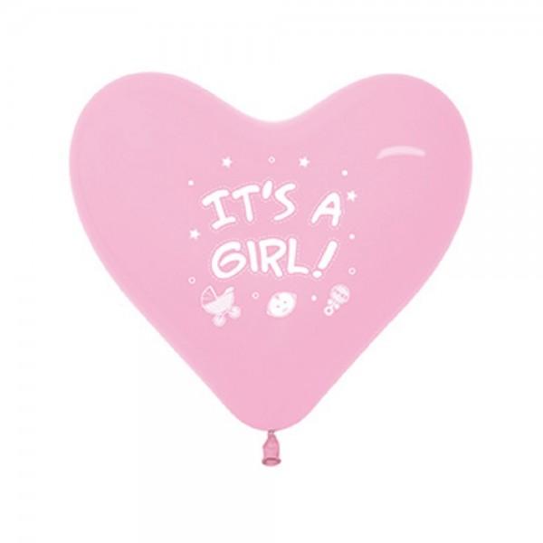 Latex Luftballons It´s a Girl - Pastel Pink - 109 - 30 cm