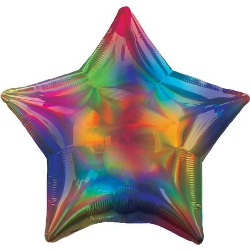 Irisierender Regenbogenstern Folienballon