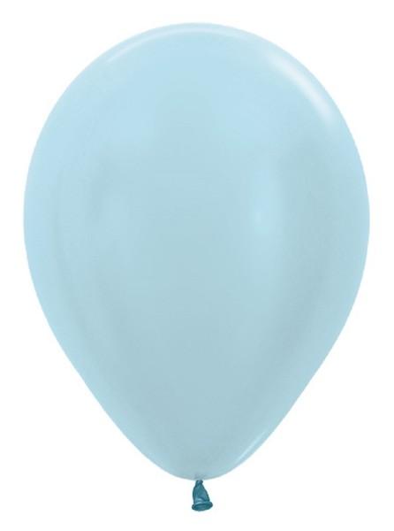 "Sempertex 440 Satin Pearl Blue (Blau) 30cm 12"" Latex Luftballons"
