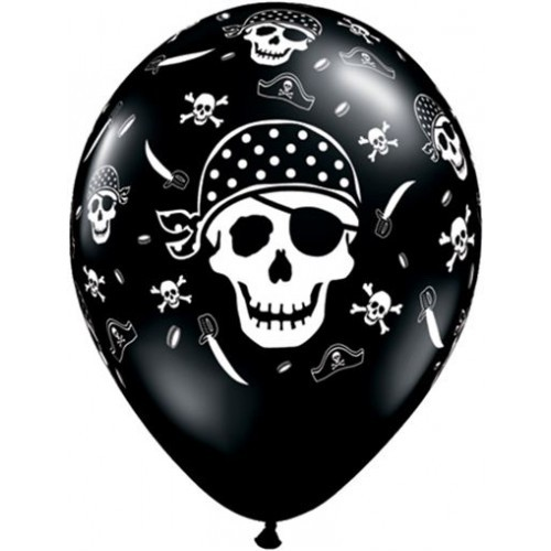 "Piraten Motiv 27,5cm 11"" Latex Luftballons Qualatex"