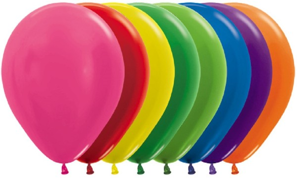 "Sempertex 512 Metallic Fuchsia 30cm 12"" Latex Luftballons"