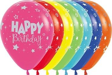 Happy Birthday Fantasy Sortiment Latexballon - 27,5cm