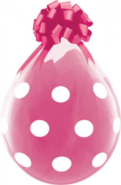"Verpackungsballons Big Polka Dots 45cm 18"" Qualatex Stuffer"