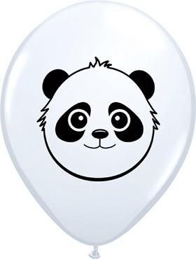 """Panda Bear Faces 12,5cm 5"""" Latex Luftballons Qualatex"""