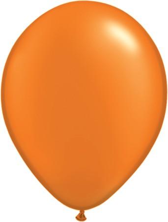 "Qualatex Pearl Mandarin Orange (Orange) 27,5cm 11"" Latex Luftballons"