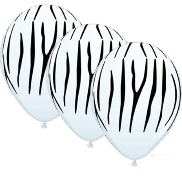 "Qualatex Tierdruck Zebra 27,5cm 11"" Latex Luftballons"