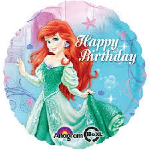 Arielle die kleine Meerjungfrau Happy Birthday Folienballon - 45cm