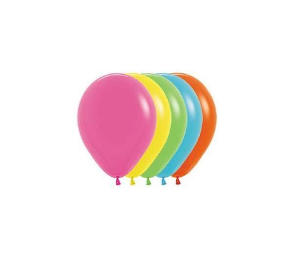 "Sempertex 002 Tropical Assorted Buntes Sortiment 12,5cm 5"" Latex Luftballons"
