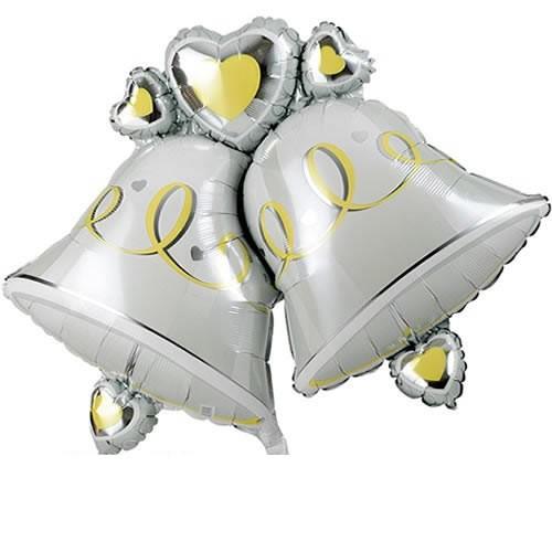 Hochzeitsglocken Folienballon - 87cm