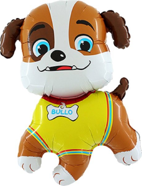 Hund Bulldogge Bullo Folienballon - 78cm 31''