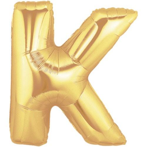 Buchstaben K gold Folienballon - 101cm
