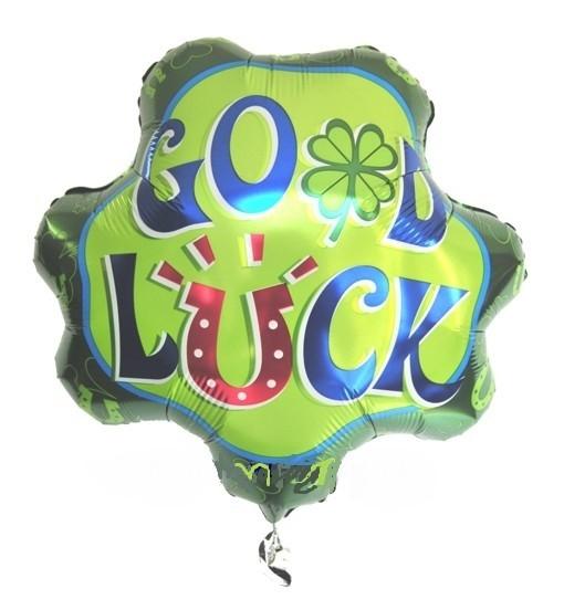 Viel Glück Kleeblatt Folienballon