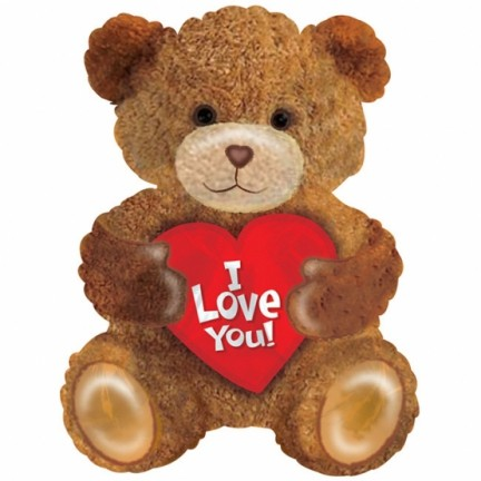 I Love You kleiner Bär Folienballon - 55 cm