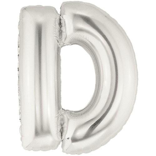 Buchstaben D silber Folienballon