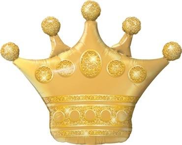Folienballon Golden Crown - 104 cm