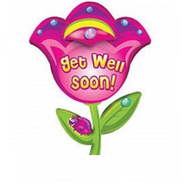 Gute Besserung Blume Folienballon - 81cm