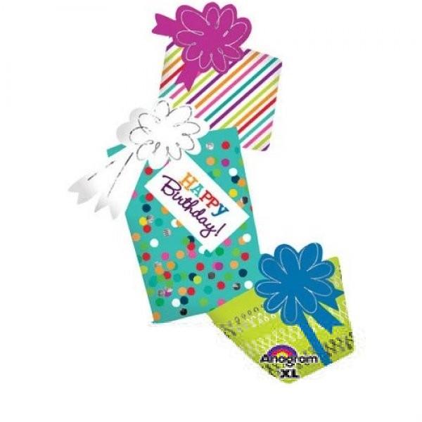 Geschenke Kette Happy Birthday Folienballon - 99cm