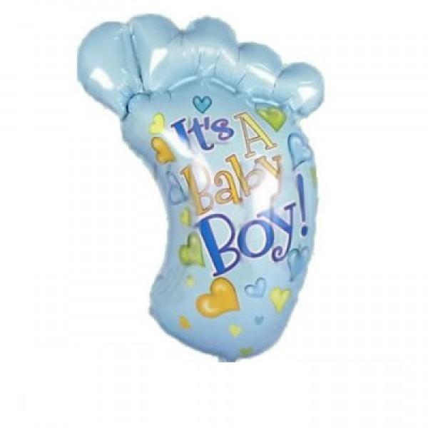 Mini Folienballon Babyfuss It`s a boy - 35cm