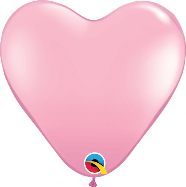 BallonHerz Standard Pink (pink) Latexluftballons - 37,5cm