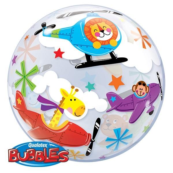 "Qualatex Bubbles 'Flying Circus' Zirkus mit Löwe und Giraffe 22"" 56cm Luftballon"