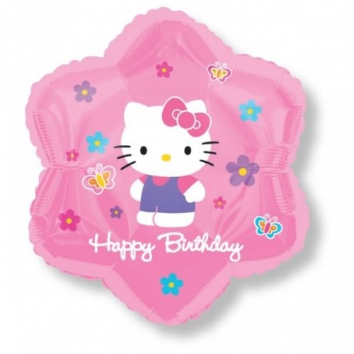 Hello Kitty Folienballon Stern - 45cm
