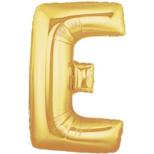 Buchstaben E gold Folienballon - 101cm