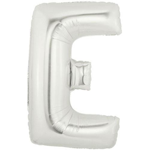 Buchstaben E silber Folienballon