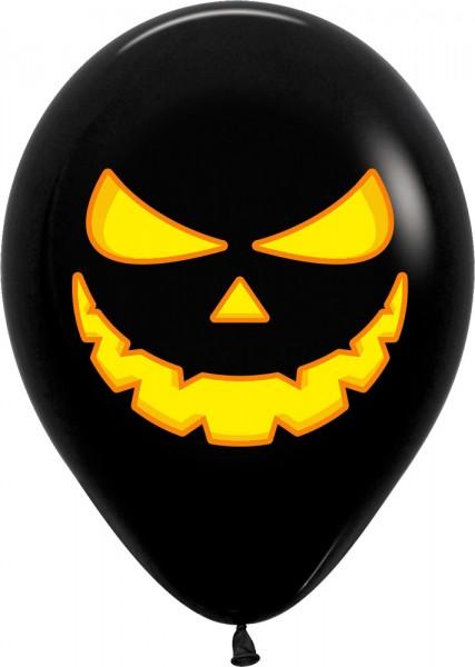 "Pumpkin Light Kürbis Black 30cm 12"" Latex Luftballons Sempertex"