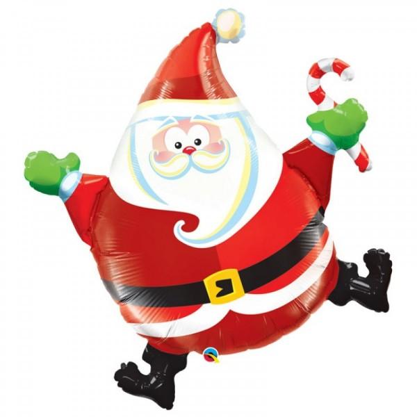 Weihnachtsmann Santa Claus Dancing Folienballon - 93cm