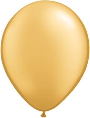 "Qualatex Metallic Gold 27,5cm 11"" Latex Luftballons"