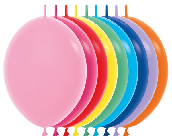 "Link o Loon 000 Fashion Assorted 30cm 12"" Latex Luftballons Sempertex"