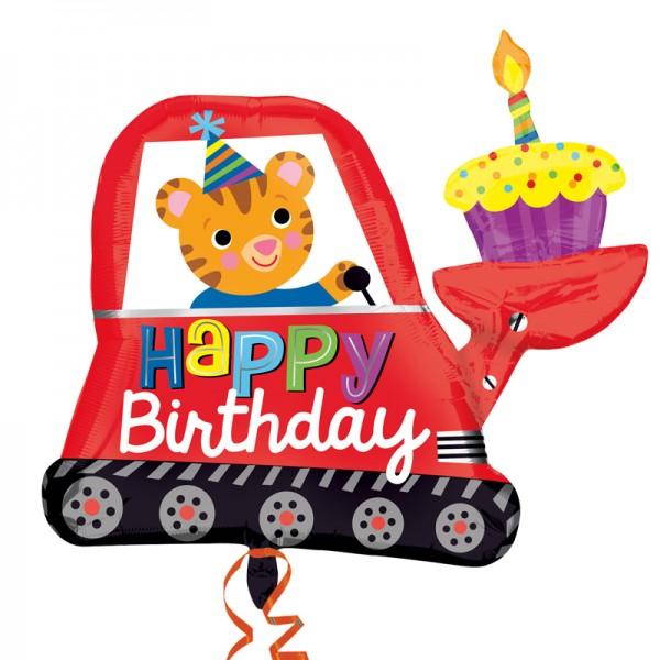 Folienballon Geburtstags Bagger Kuchen
